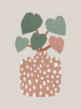 Illustration Terrazzo & Heart Plant