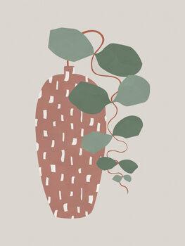 Illustration Terrazzo & Leaves