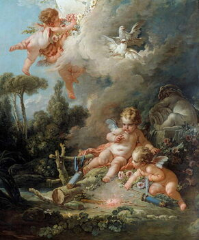 Fine Art Print The Angel Detail Love Target. Painting by Francois Boucher