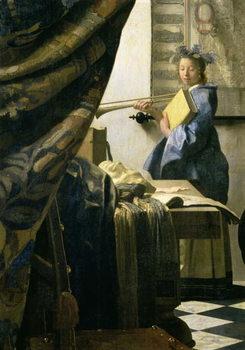 Reprodução do quadro The Artist's Studio, c.1665-6 (oil on canvas)