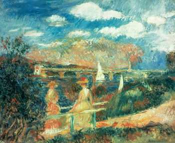 Fine Art Print The banks of the Seine at Argenteuil, 1880