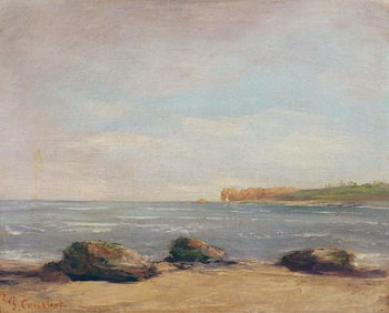 Taidejuliste The Beach at Etretat, 1872