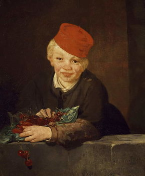 Reprodução do quadro The Boy with the Cherries, 1859