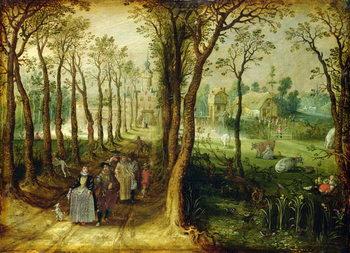 Reprodução do quadro The Castle in the Marsh