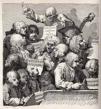 Reprodução do quadro The Chorus, from 'The Works of William Hogarth'