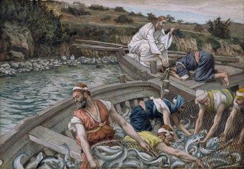 Reprodução do quadro The First Miraculous Draught of Fish