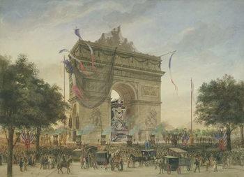 Reprodução do quadro The Funeral of Victor Hugo (1802-85) 1885