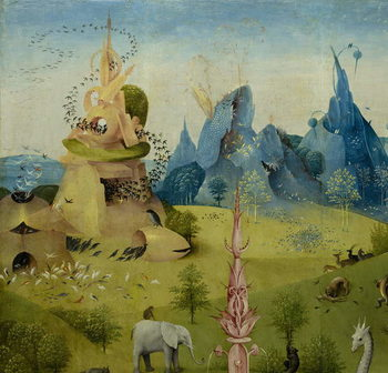 Fine Art Print The Garden of Earthly Delights, 1490-1500