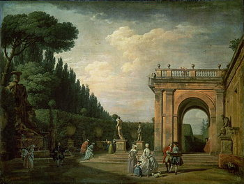 Fine Art Print The Gardens of the Villa Ludovisi, Rome, 1749