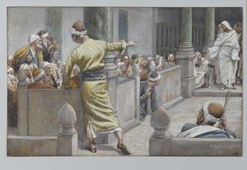 Reprodução do quadro The Healed Blind Man Tells His Story to the Jews
