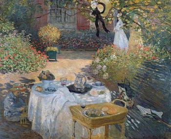Reprodução do quadro The Luncheon: Monet's garden at Argenteuil, c.1873