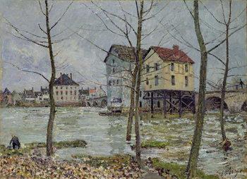 Reprodução do quadro The Mills at Moret-sur-Loing, Winter, 1890