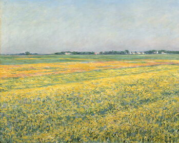 Fine Art Print The Plain of Gennevilliers, Yellow Fields; La plaine de Gennevilliers, champs jaunes