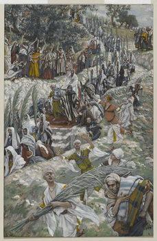 Reprodução do quadro The Procession on the Mount of Olives