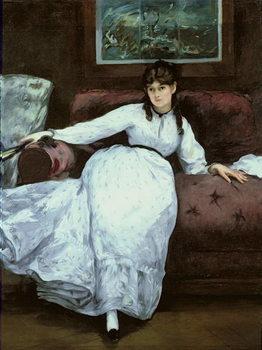 Fine Art Print The Rest, portrait of Berthe Morisot , 1870