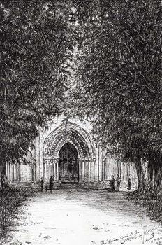 Fine Art Print the Roman Door l'abbey de blassimon, 2010,