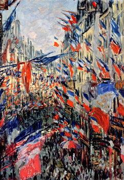 Taidejuliste The Rue Saint-Denis, Celebration of June 30, 1878