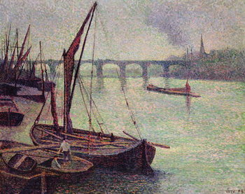 Fine Art Print The Thames at Vauxhall Bridge, 1893