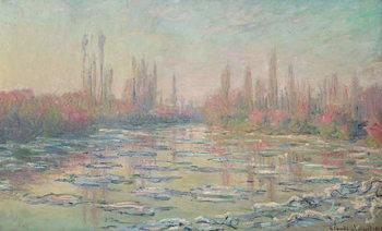 Reprodução do quadro The Thaw on the Seine, near Vetheuil, 1880