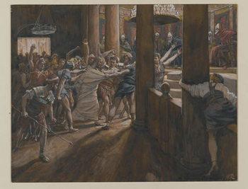 Reprodução do quadro The Tribunal of Annas