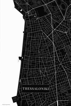 Map Thessaloniki black
