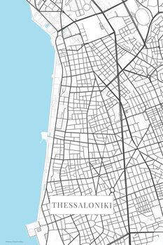Map Thessaloniki bwhite