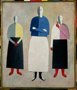 Taidejuliste Three Little Girls