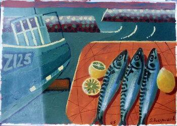 Fine Art Print Three Mackerel