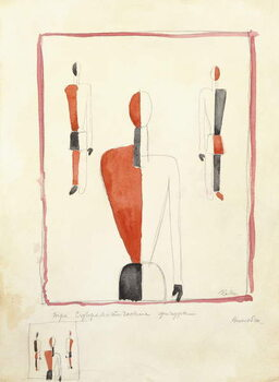 Fine Art Print Three Suprematist Figures