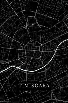 Map Timisoara black