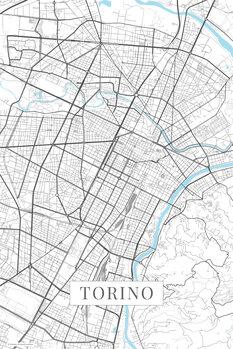Map Torino white