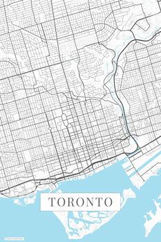 Map Toronto white