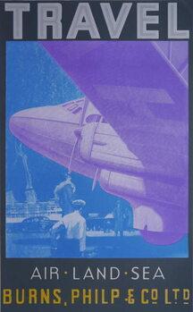 Reprodução do quadro Travel: Air, Land Sea