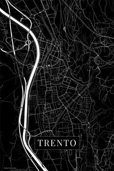 Map Trento black
