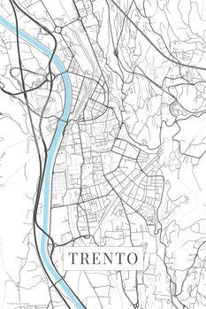 Map Trento white