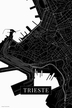 Map Trieste black