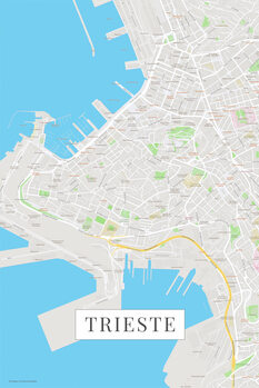 Map Trieste color