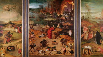 Fine Art Print Triptych of the Temptation of St. Anthony