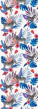 Illustration Tropical Zebra