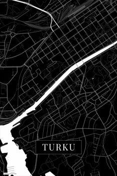 Map Turku black