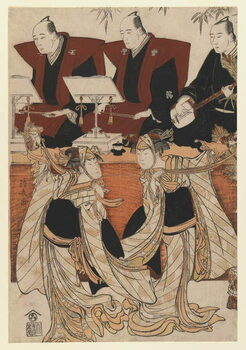 Fine Art Print Two actors as Iwai Hanshiro IV and Segawa Kikunojo III in the 'Karukoma' dance