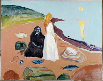 Fine Art Print Two Women on the Beach