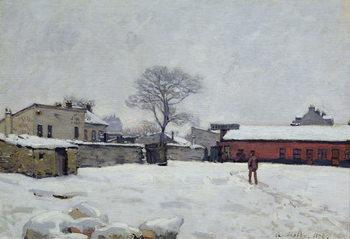 Reprodução do quadro Under Snow: the farmyard at Marly-le-Roi, 1876