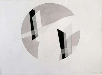 Fine Art Print Untitled Mixed Media by Laszlo Moholy-Nagy   New York, Museum of Modern Art
