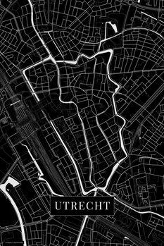 Map Utrecht black