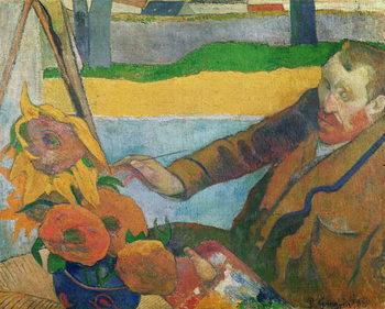 Reprodução do quadro Van Gogh painting Sunflowers, 1888