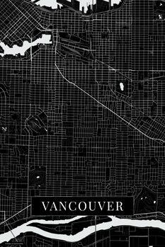 Map Vancouver black