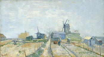 Reprodução do quadro Vegetable Gardens and the Moulin de Blute-Fin on Montmartre