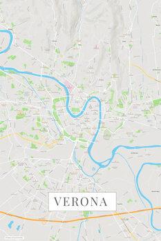 Mapa Verona color
