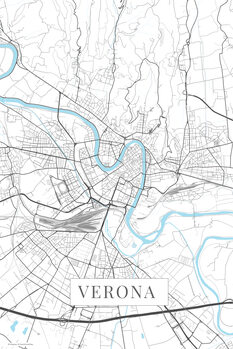 Mapa Verona white